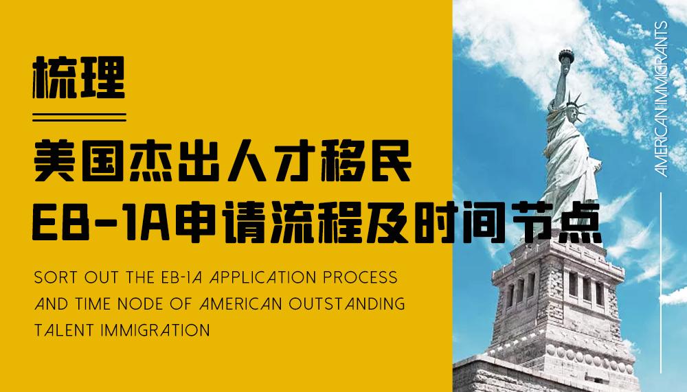 梳理美国杰出人才移民EB-1A申请流程及时间节点